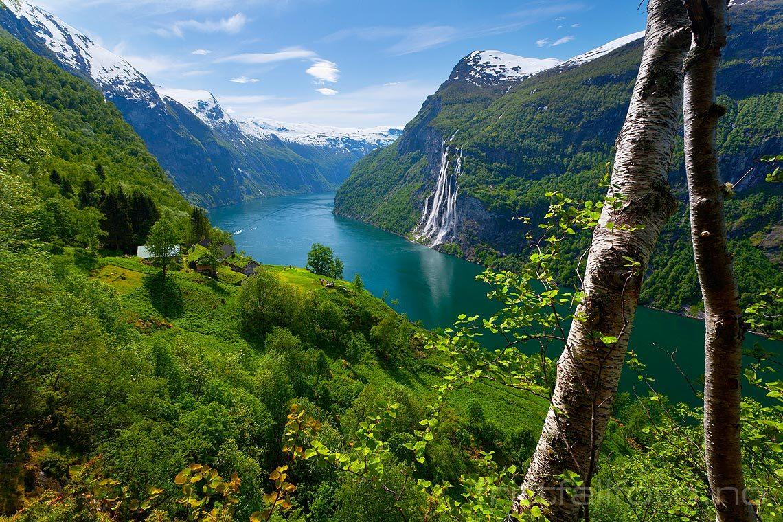 Vakker junidag nær Skageflå ved Geirangerfjorden, Stranda, Møre og Romsdal.