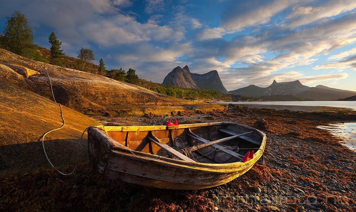 Sommerkveld ved Efjorden, Ballangen, Nordland.
