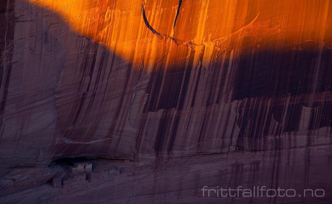 White House Ruins i Canyon De Chelly, Arizona, USA.<br>Bildenr 20080314-221.