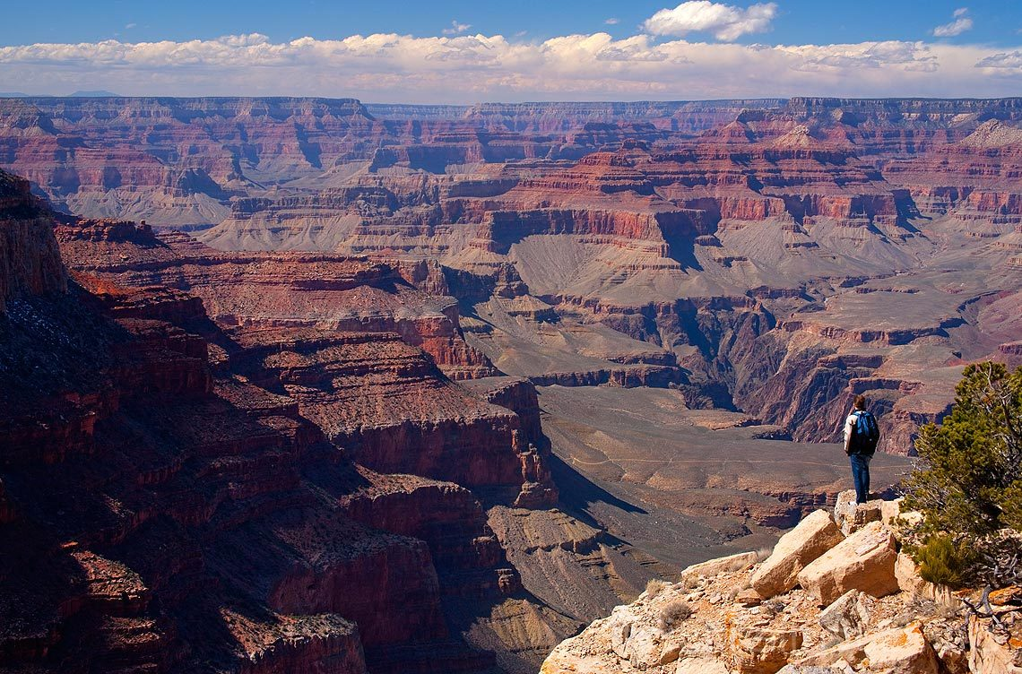 På Yaki Point ved Grand Canyon, Arizona, USA.