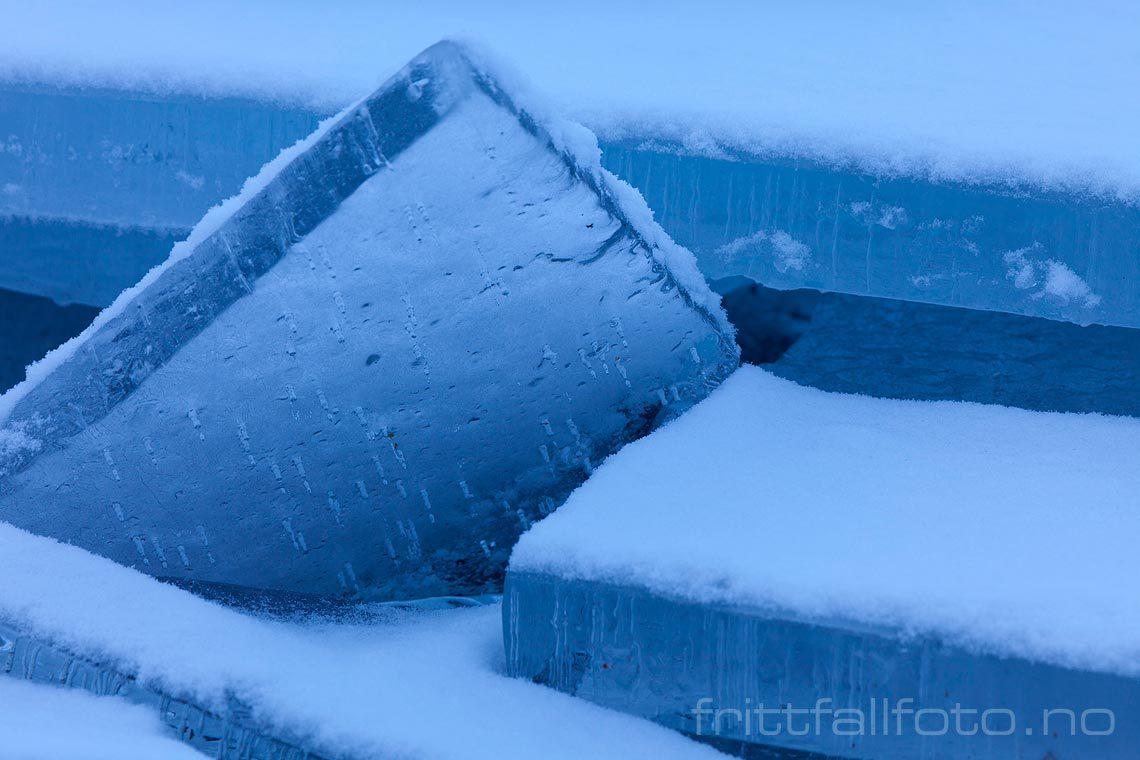 Isflak på Båtberget ved Nisser, Telemark.