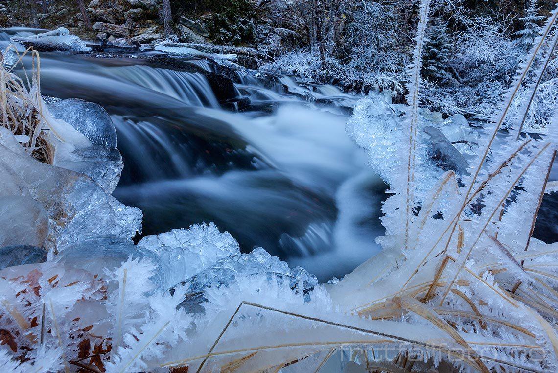 Isformasjoner ved Tjåga nær Gransherad, Notodden, Telemark.