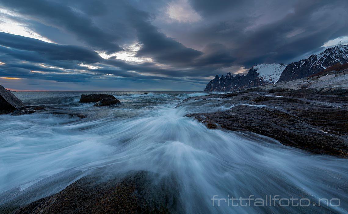 Brenninger på Tungeneset ved Steinfjorden, Senja, Troms og Finnmark.<br>Bildenr 20150414-530.