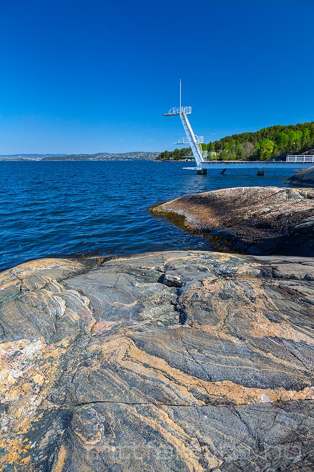 Ved Ingierstrand i Bunnefjorden, Oppegård kommune, Akershus.