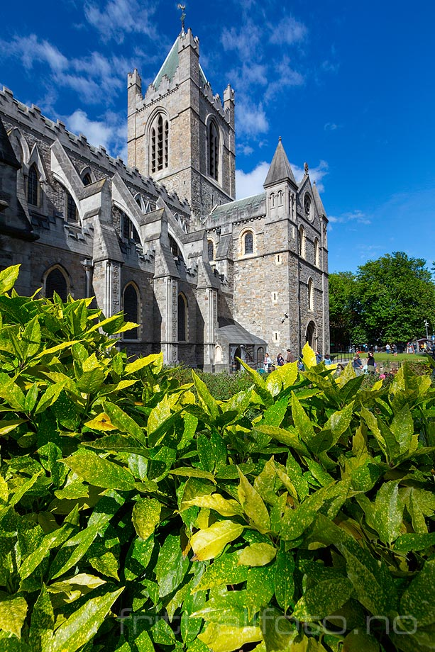 Ved Christ Church Cathedral i Dublin, Leinster, Irland.