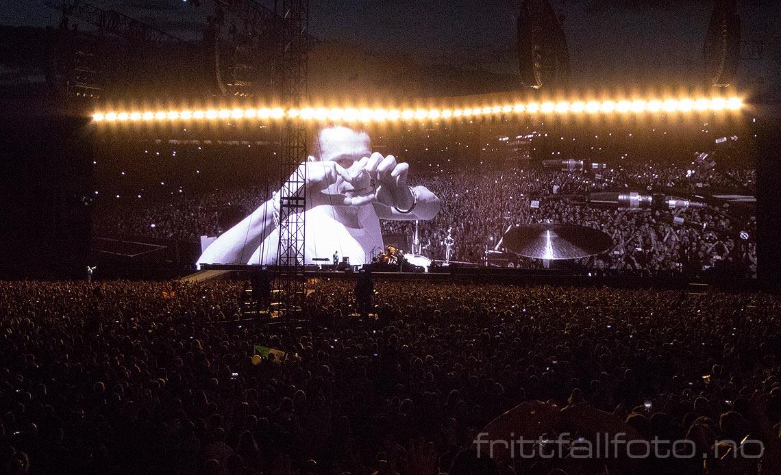 Den 22. juli 2017 spilte U2 foran drøyt 80000 hjemmefans i Croke Park, Dublin, Irland.<br>Bildenr 20170722-269.