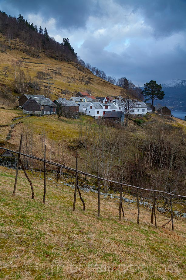 Ved Havrå nær Sørfjorden på Osterøy, Osterøy, Vestland.<br>Bildenr 20140305-572.