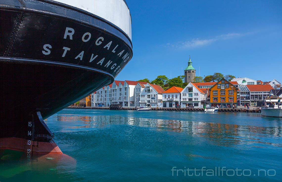 M/S 'Rogaland' ved Vågen i Stavanger, Stavanger kommune, Rogaland.