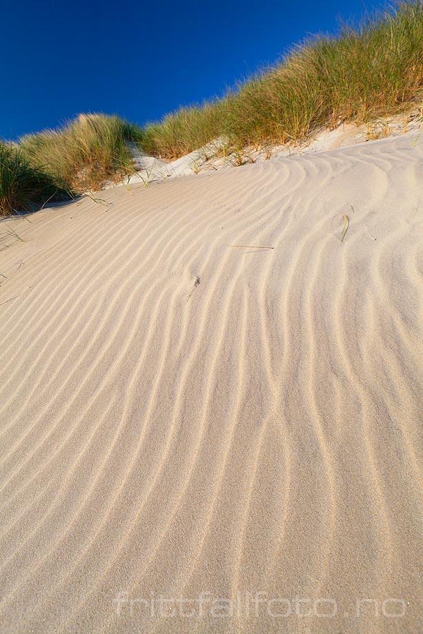 Mønster i sand på Selestranda nær Sele, Klepp kommune, Rogaland.