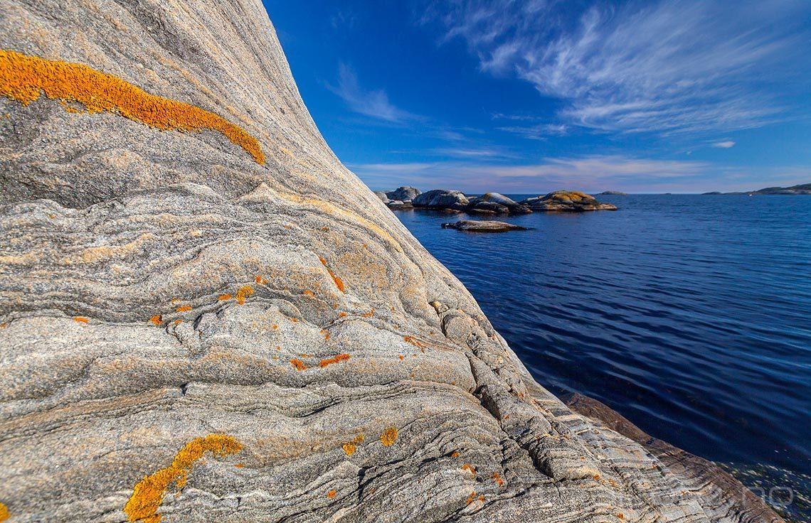 Svaberg nær Saltvik på Justøya, Lillesand, Aust-Agder.