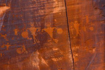 Poison Spider Mesa ved Moab, Utah.