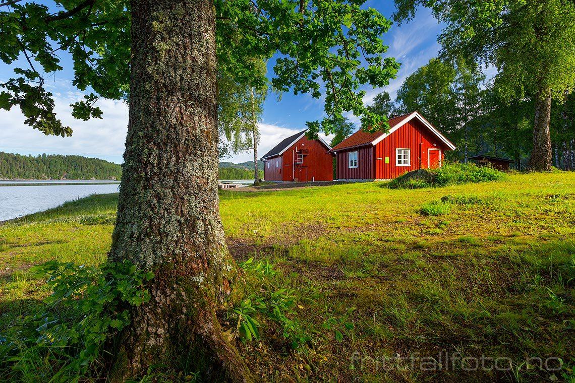 Båthuset ved Gorningen nær Kiste, Siljan kommune, Telemark.