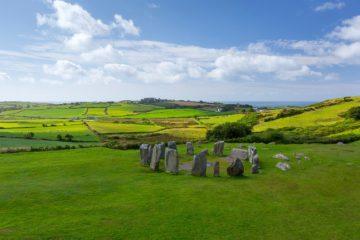 Drombeg Stone Circle, Cork, Irland.