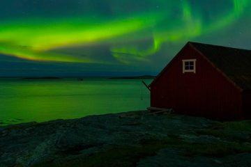 Nordlys ved Mjelle, Bodø.