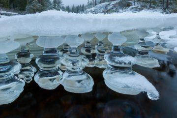 Is i Hørteåa, Midt-Telemark.