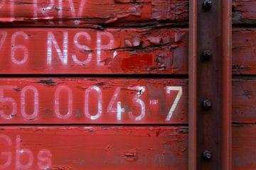 Jernbanevogn ved Simonstad, Åmli.