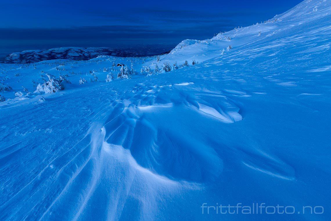 Vintermorgen på Lifjell, Bø i Telemark.