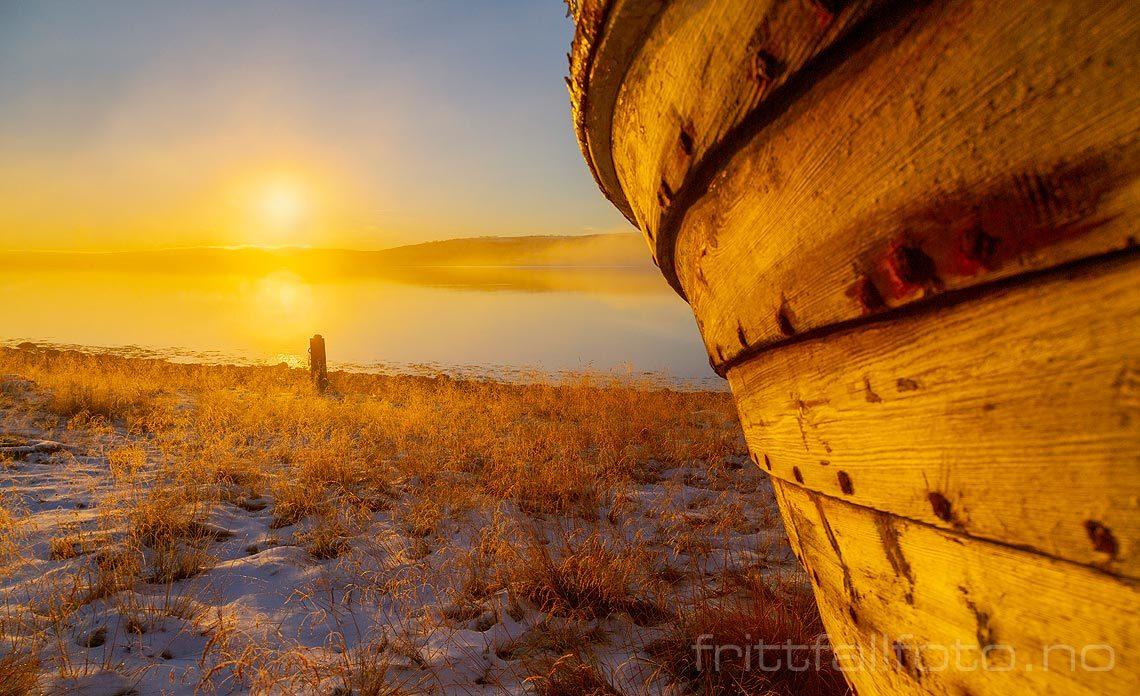 Kald novemberdag nær Gornitak ved Varangerfjorden, Nesseby, Troms og Finnmark.<br>Bildenr 20181102-0195.