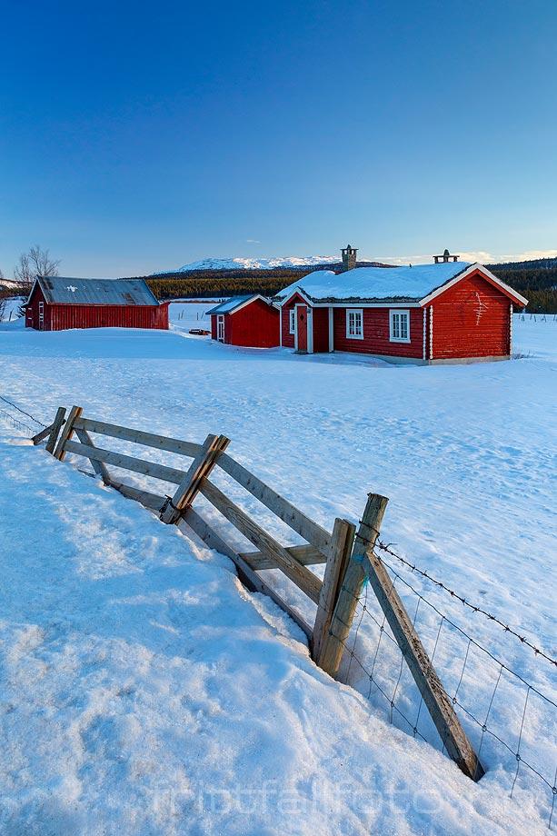 Vinterkveld nær Fefor, Nord-Fron, Innlandet.<br>Bildenr 20190227-360.
