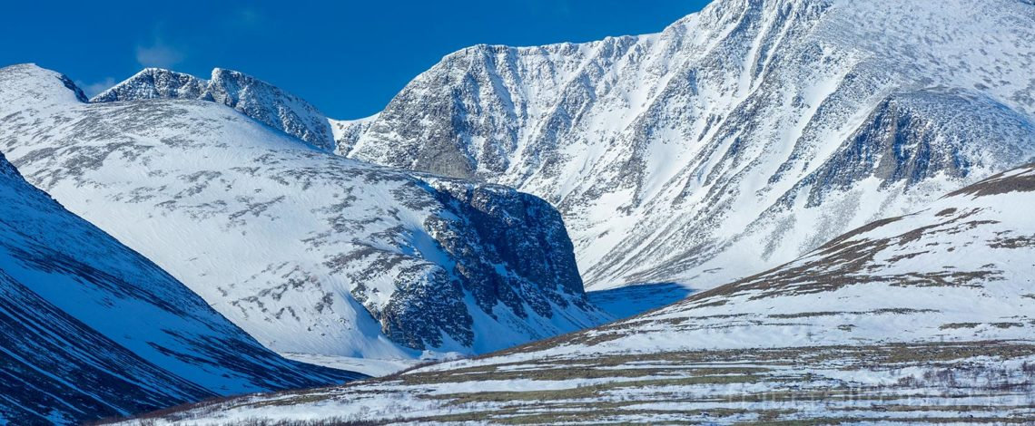 Vinterlandskap ved Langglupdalen i Rondane, Folldal, Innlandet.<br>Bildenr 20190228-377-378.