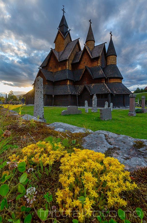 Heddal stavkirke i Heddal, Notodden, Vestfold og Telemark.<br>Bildenr 20190708-065.