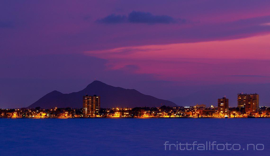 Kveld ved Mar Menor, San Pedro del Pinatar, Región de Murcia, Spania.<br>Bildenr 20190905-811.