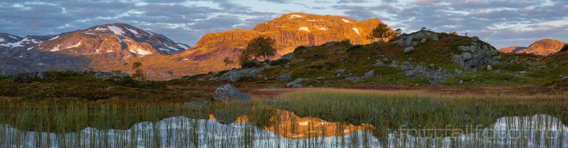 Morgenstemning på Haukelifjell, Vinje, Vestfold og Telemark.<br>Bildenr 20170917-058-062.