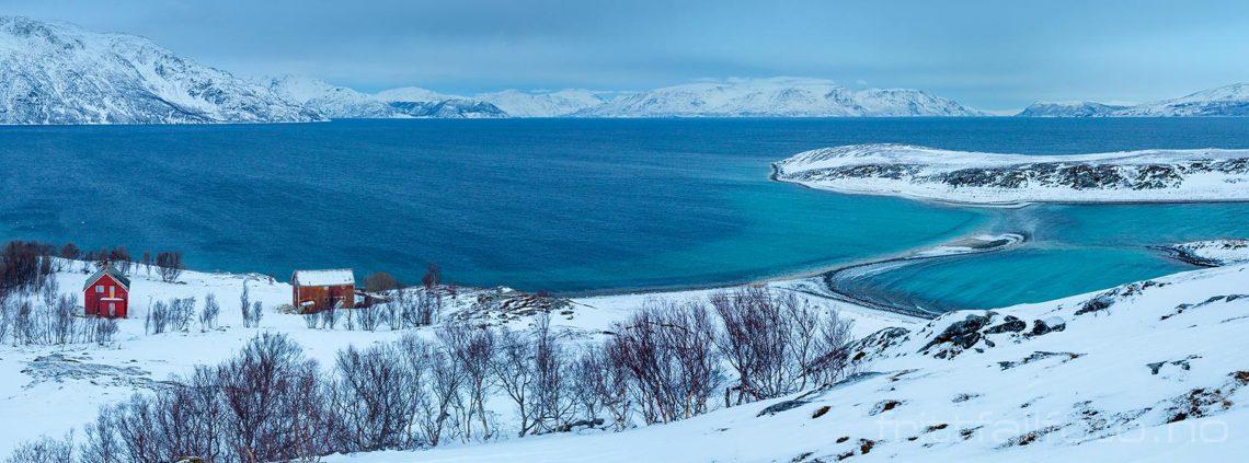 På Isnestoften ved Altafjorden, Alta, Troms og Finnmark.<br>Bildenr 20180210-277-278.