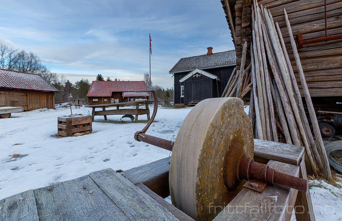 Ved Bøensætre, Aremark, Viken.<br>Bildenr 20190112-401.