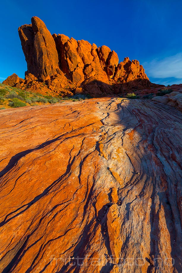 Morgen ved Kaolin Wash, Valley Of Fire State Park, Clark County, Nevada, USA.<br>Bildenr 20170402-108.