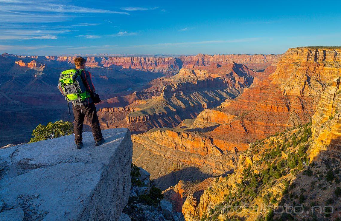 Kveld ved Zuni Point på South Rim, Grand Canyon, Coconino County, Arizona, USA.<br>Bildenr 20170404-431.