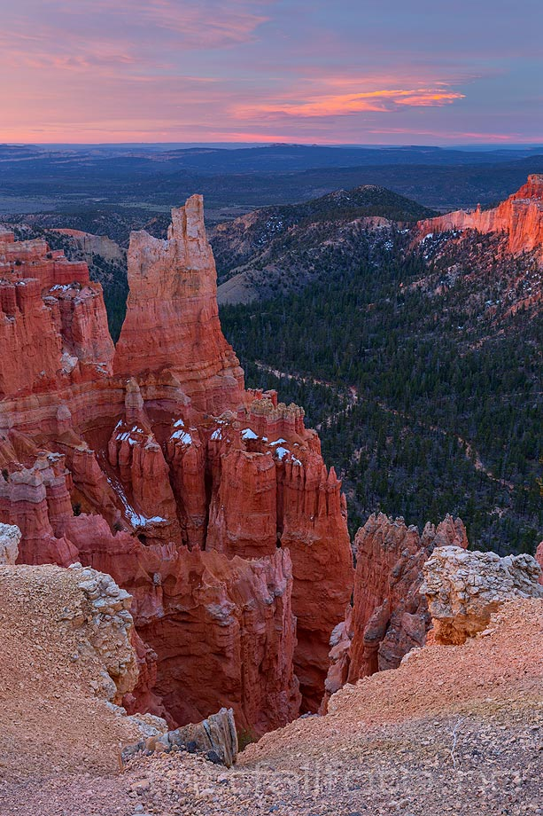 Morgen ved Paria View nær Bryce Canyon, Garfield County, Utah, USA.<br>Bildenr 20170407-021.