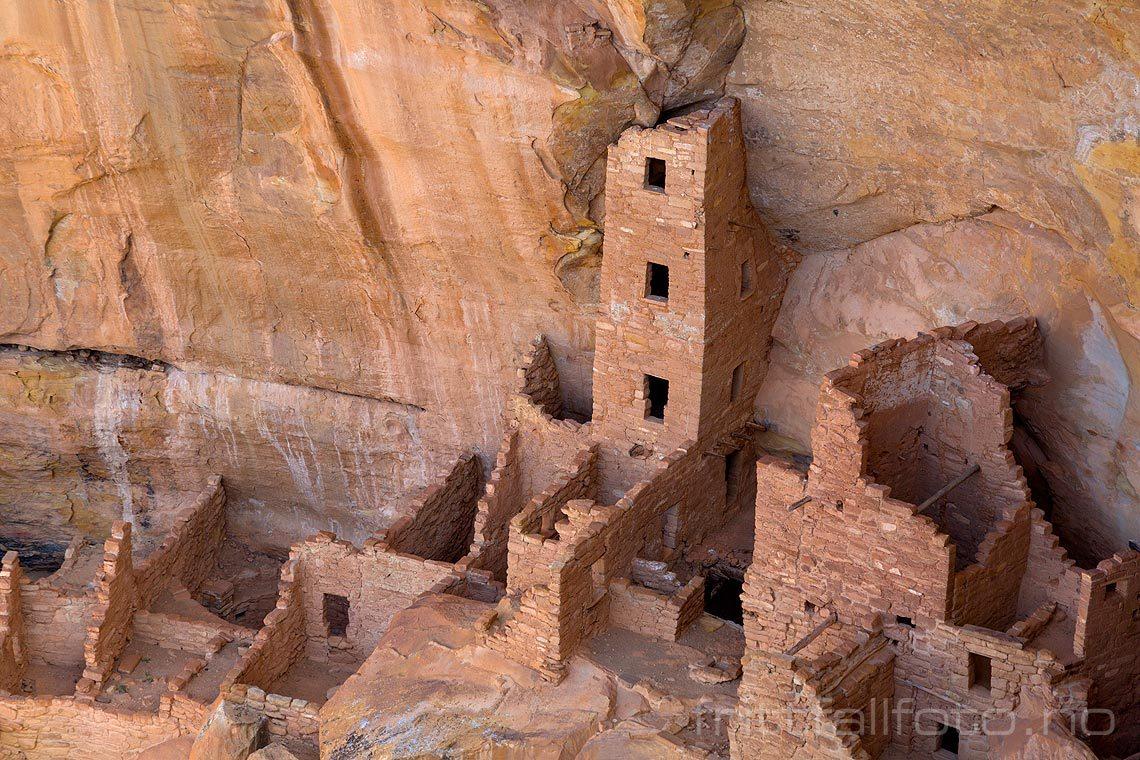 Square Tower House i Mesa Verde National Park, Montezuma County, Colorado, USA.<br>Bildenr 20170410-025.