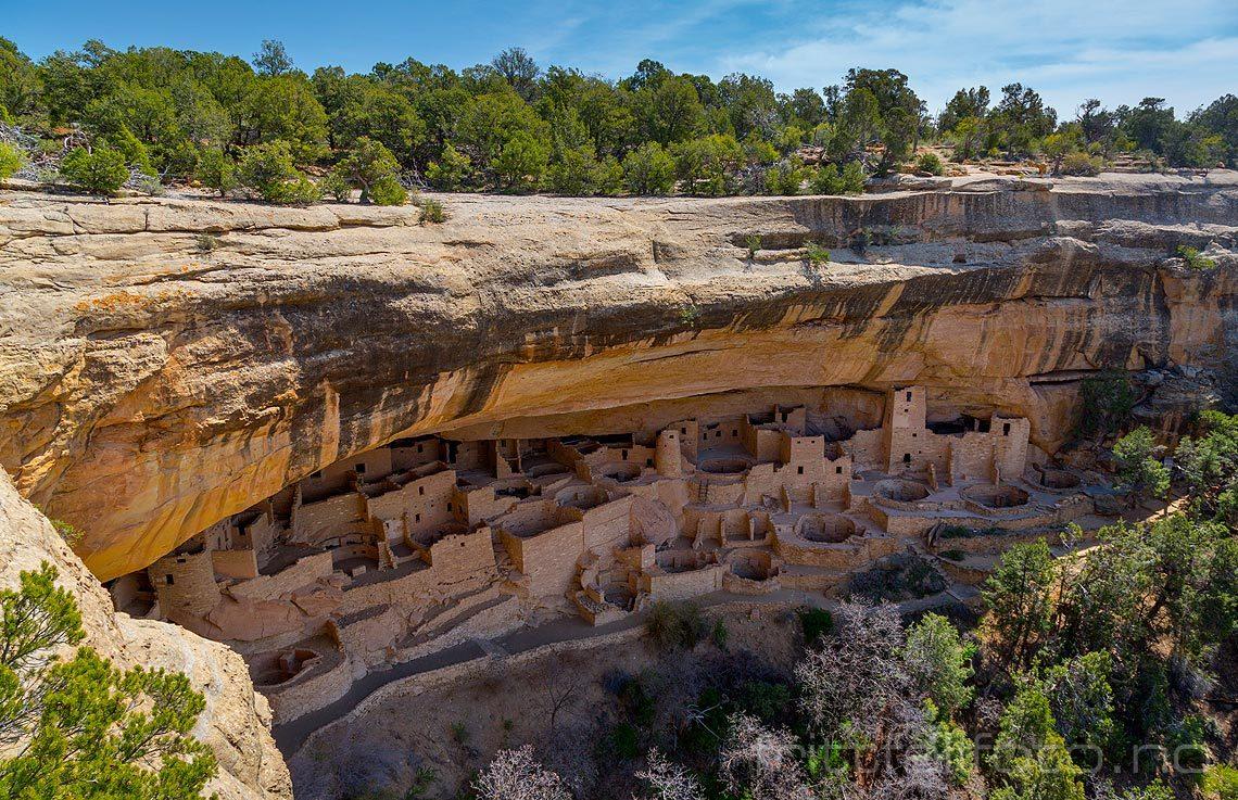 Cliff Palace i Mesa Verde National Park, Montezuma County, Colorado, USA.<br>Bildenr 20170410-093.