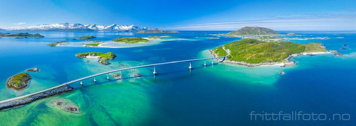 Solskinnsdag ved Sommarøy, Tromsø, Troms og Finnmark.<br>Bildenr 20200610-352-356.
