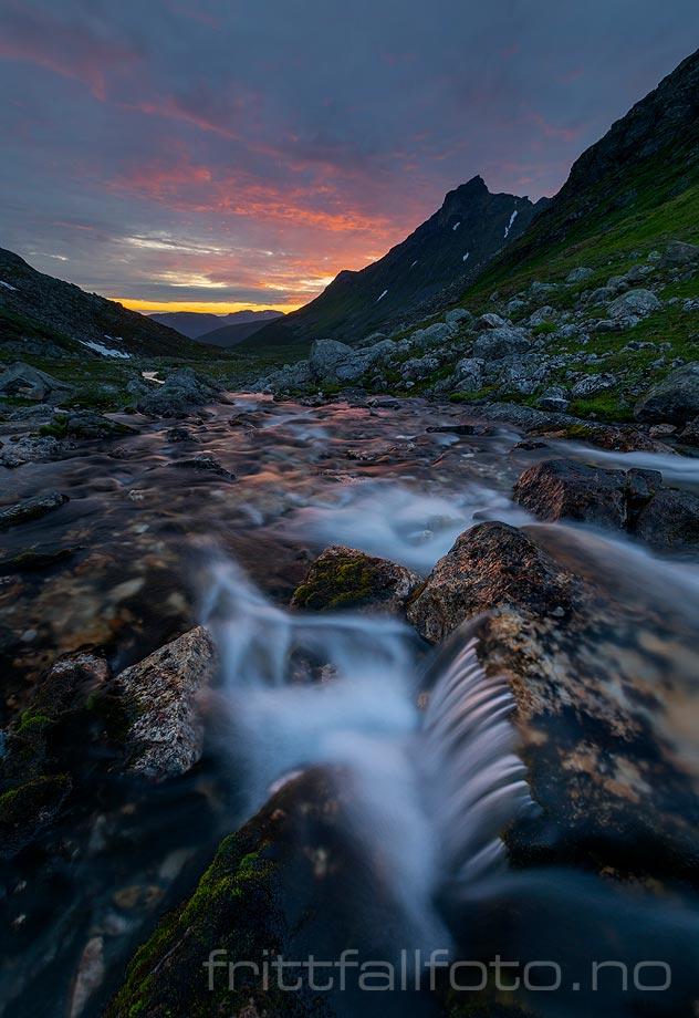 Sommernatt nær Olderdalen, Tjeldsund, Troms og Finnmark.<br>Bildenr 20200810-626.