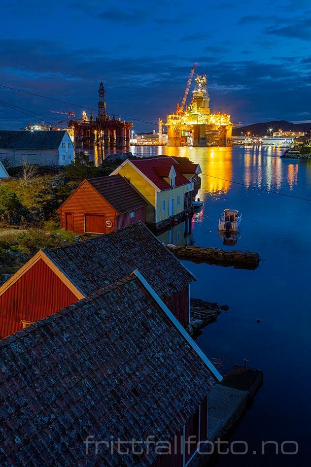 Kveld ved Vindenes, Øygarden, Vestland.<br>Bildenr 20201209-851.